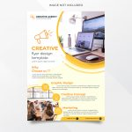 Abstract background creative agency flyer design template